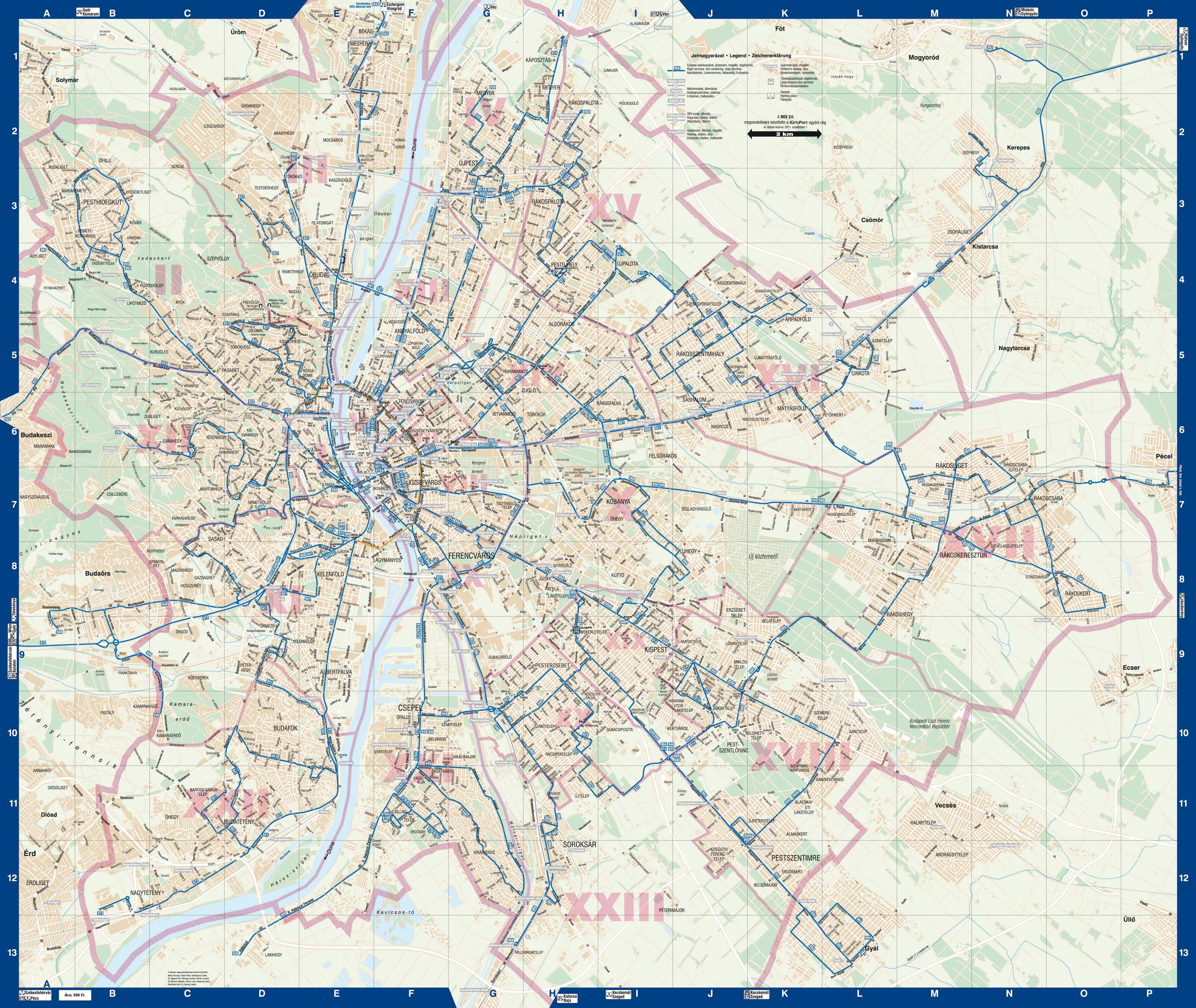 bkv vonalhálózati térkép HBweb.hu bkv vonalhálózati térkép