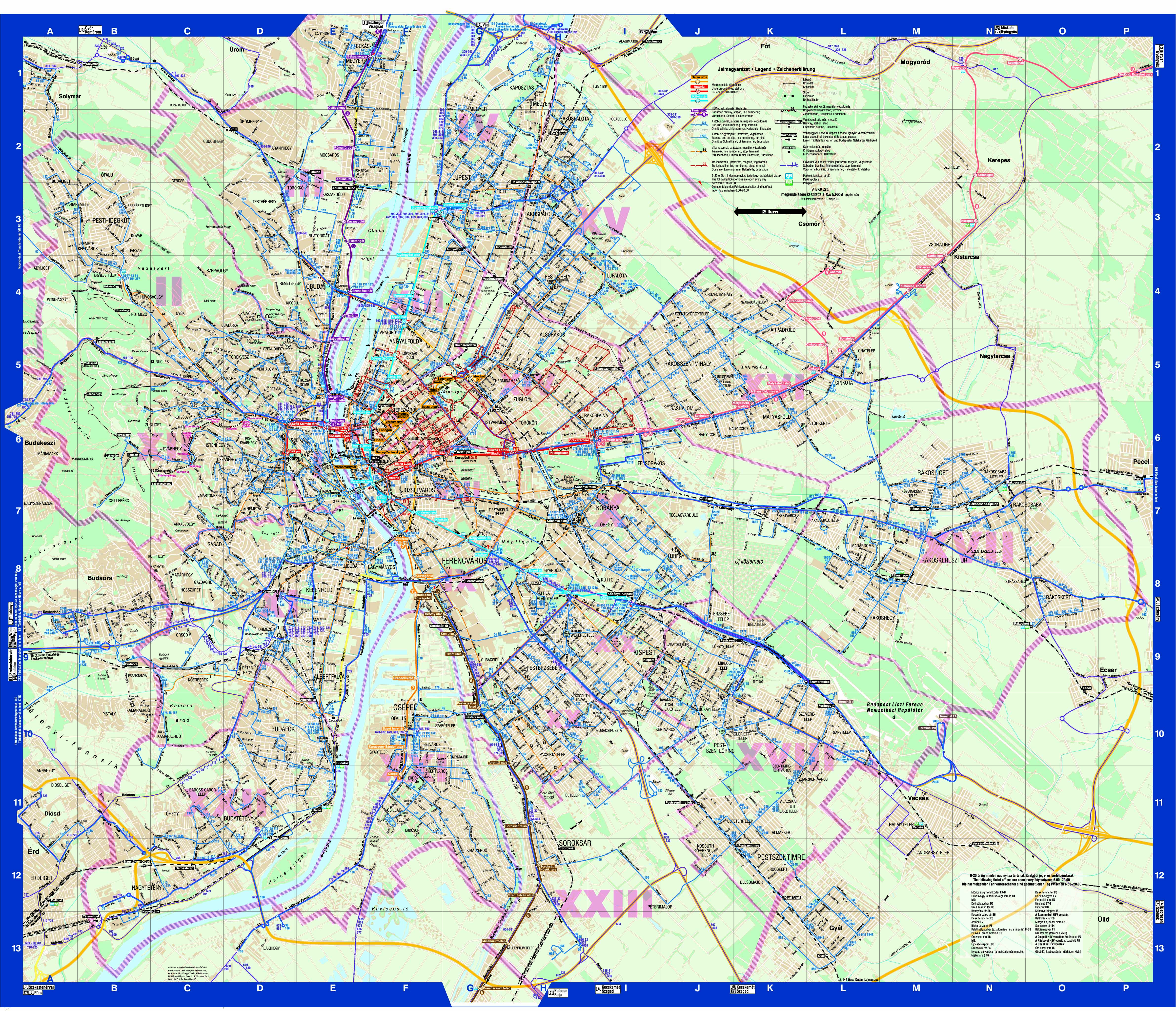 Transportation maps Budapest Guide